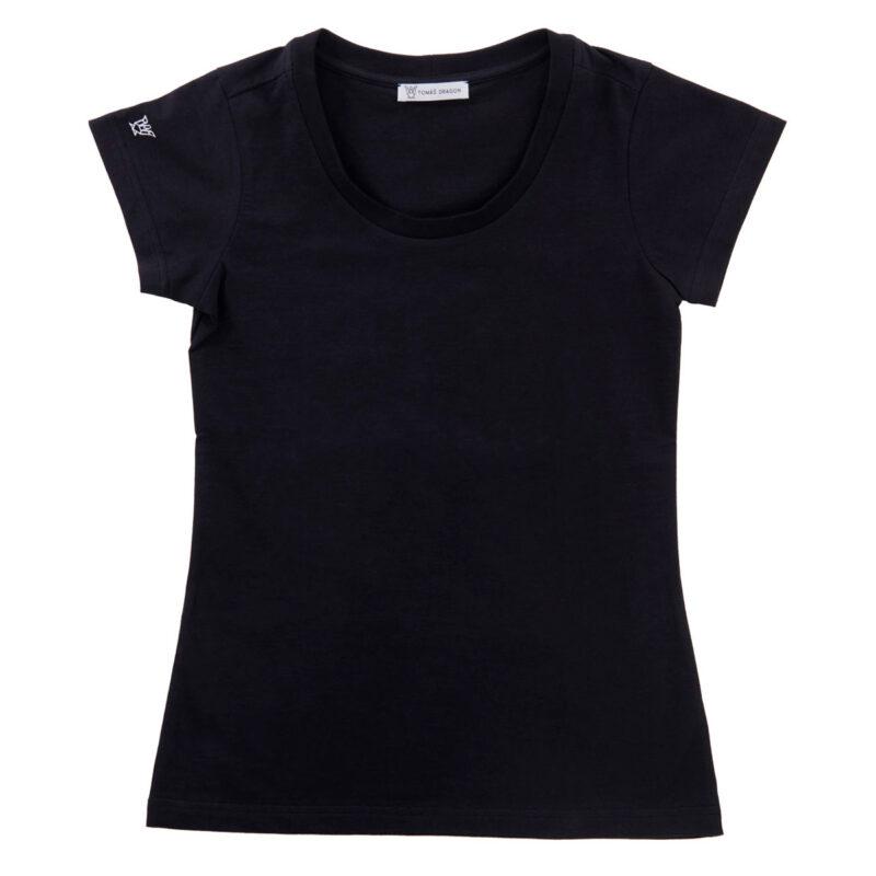 Černé dámské tričko Basic z BIO bavlny