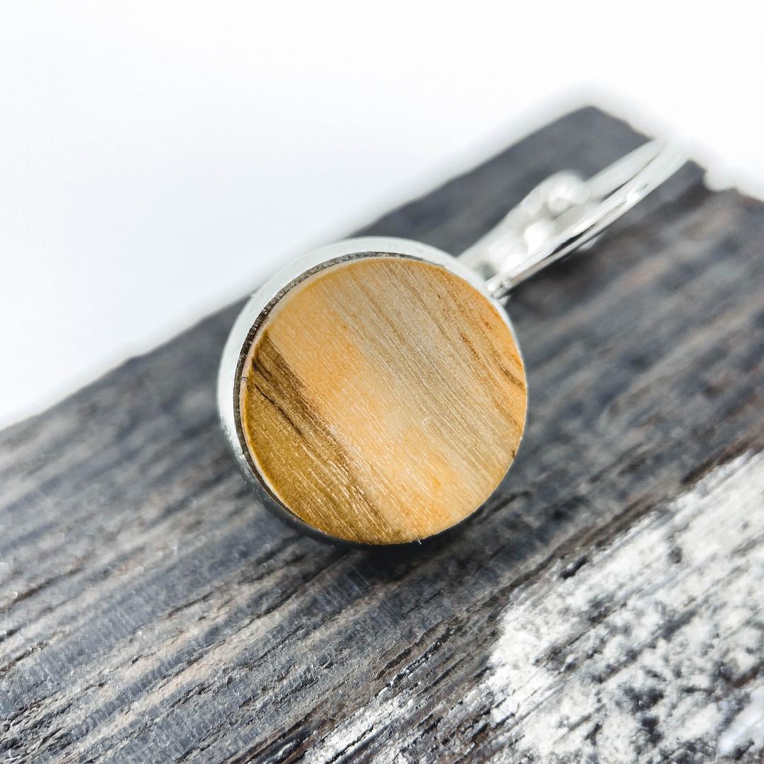 Dřevěné náušnice z olivovníku evropského